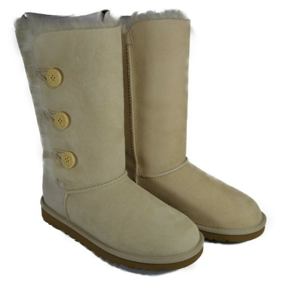 cadcdf1f9c1 1962 UGGS Bailey Button Triplet Boots (Sand) BK Boutique